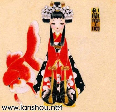 日本和服妞和金鱼!中国兰寿网(中国兰寿金鱼网)