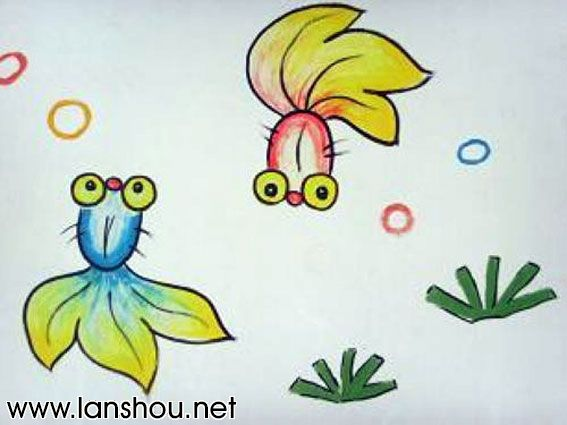 以后可以教自己的孩子画金鱼了中国兰寿网